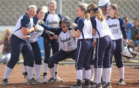 Girls softball defeats Bishop Ward in home opener