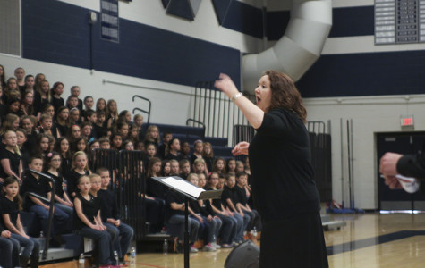 Elementary school choirs perform together in choral festival