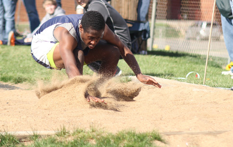Junior varsity track members compete in varsity meet